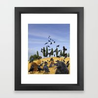 Crows in Tuscany Framed Art Print