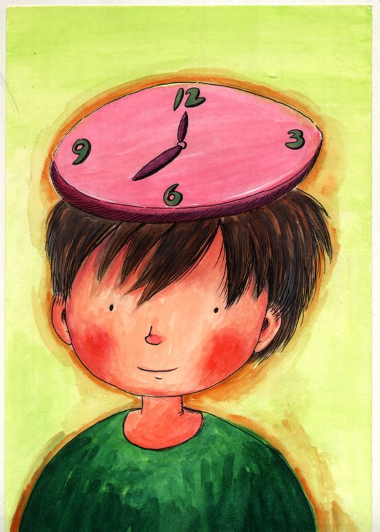 The Clock On My Head Art Print