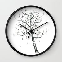 button tree Wall Clock