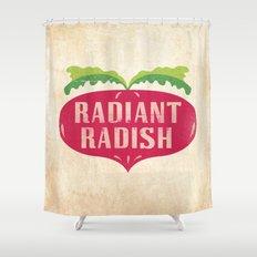 Radiant Radish Shower Curtain