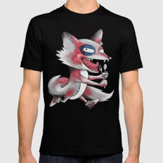 Hungry Fox SMALL Mens Fitted Tee Black