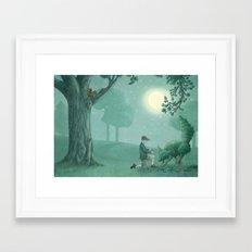 The Night Gardener - Last Page Framed Art Print