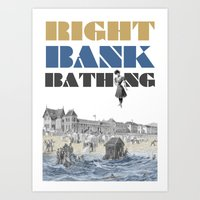 Right Bank Bathing Art Print
