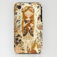 iPhone 3Gs & iPhone 3G Cases featuring The Queen of Pentacles by Teagan White