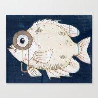 Monocle Fish Canvas Print