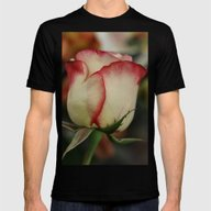 Peppermint Rose Mens Fitted Tee Black SMALL
