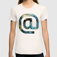 At Sign {@} Series - Silom Typeface Womens Fitted Tee Natural SMALL