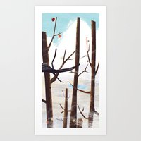 trees tops Art Print