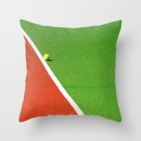 Red, Green, White Line A… Throw Pillow