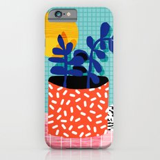 No Way - wacka potted house plant indoor cute hipster neon 1980s style retro throwback minimal pop  iPhone 6 Slim Case