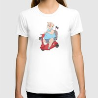 Reserved Parking Womens Fitted Tee White SMALL