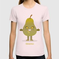 'Grizzly Pear' Robotic Womens Fitted Tee Light Pink SMALL