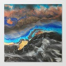 Storm Brewing - Fluid art on canvas Canvas Print