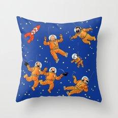 Expédition Lunaire Throw Pillow
