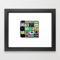 I am a  coloured pattern, pattern Framed Art Print