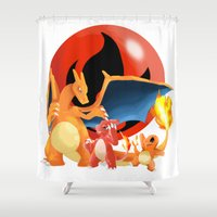 Spit Fires Shower Curtain