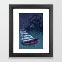 DREAM BOAT Framed Art Print