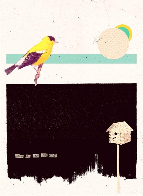 When the night falls quiet. Art Print