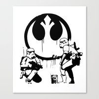 Banksy Troopers Canvas Print