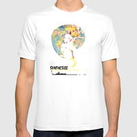 SYNTHESIZE Mens Fitted Tee White SMALL