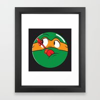 Who Watches The Pizza? Framed Art Print