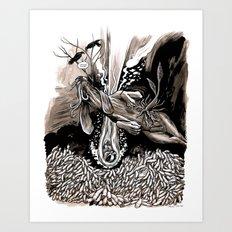 A dream of plague dogs Art Print