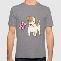 Jack Russell Terrier And… Mens Fitted Tee Tri-Grey SMALL