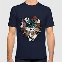 Rabbit Nightmare! Mens Fitted Tee Navy SMALL