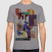 Collage II Mens Fitted Tee Athletic Grey SMALL