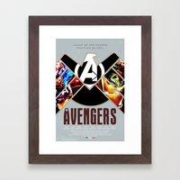 The Avengers Framed Art Print