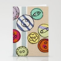 Embroidered Button Illus… Stationery Cards