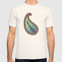 October Paisley Mens Fitted Tee Natural SMALL