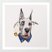 Mr. Great Dane Art Print