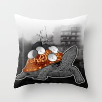 Urban Communication Turt… Throw Pillow