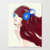 Blue flower. Canvas Print