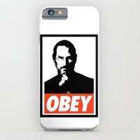 iPhone & iPod Case featuring Obey Steve Jobs by Royal Bros Art