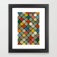 buttoned patches retro Framed Art Print