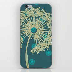 DANDELIONS TURQUOISE iPhone & iPod Skin
