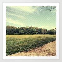 field. Art Print