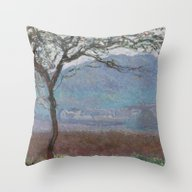 Landscape At Giverny By … Throw Pillow