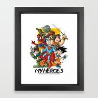 My Heroes Framed Art Print
