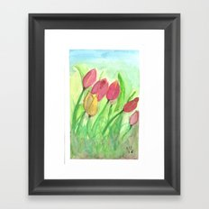 Tulipans (Watercolours) Framed Art Print