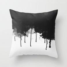 Spilled Ink Throw Pillow