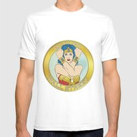 Occupy Wall Street Mens Fitted Tee White SMALL