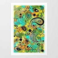 Crazy Paisley Art Print