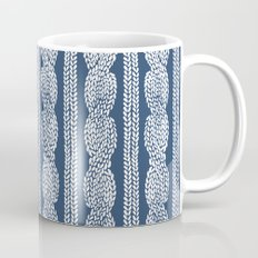 Cable Knit Navy Mug