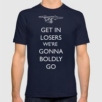Boldly go Mens Fitted Tee Navy SMALL
