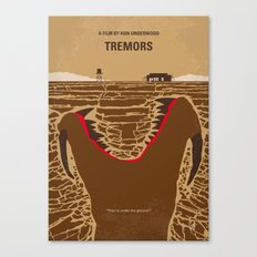 No688 My Tremors minimal movie poster Canvas Print