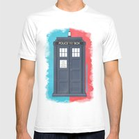 10th Doctor - DOCTOR WHO Mens Fitted Tee White SMALL