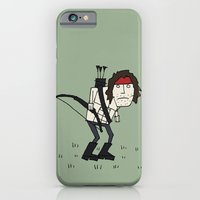 iPhone & iPod Case featuring Sad John Rambo In A Field by Squireseses
